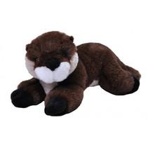 knuffel otter Ecokins Mini junior 20 cm pluche bruin