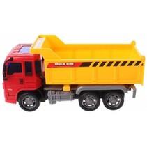 vrachtwagen laadbak jongens 23 cm geel/rood