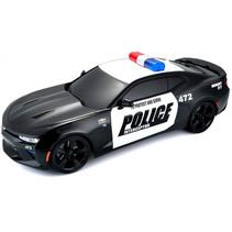 politieauto RC Chevrolet Camaro 30 x 15 cm 2,4 GHz zwart