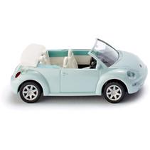 miniatuurauto VW New Beetle Cabrio die-cast zink 1:87 blauw