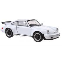 auto Porsche 911 Turbo junior 11 cm die-cast wit