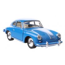 schaalmodel Porsche 1:32 junior die-cast 10 cm blauw