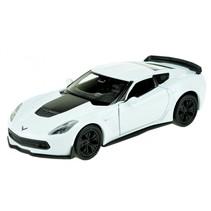 schaalmodel Chevrolet Corvette 1:34 wit 11 cm