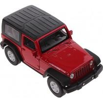 schaalmodel Jeep Wrangler Rubicon 1:34 rood 11 cm