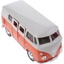 metalen Volkswagen bus oranje 11,5 cm
