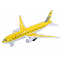 speelvliegtuig junior 19 cm geel/ wit