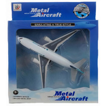 speelvliegtuig junior 19 cm wit/grijs