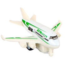 vliegtuig 10 cm die-cast wit/groen