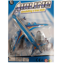 vliegtuig junior 13,5 x 13,5 cm blauw