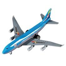 vliegtuig pullback 14 cm blauw