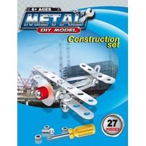 Constructieset Metaal vliegtuig