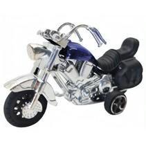 motor die-cast 9 cm blauw