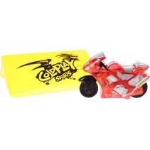 racemotor met schans rood 6 cm