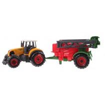tractor met aanhanger 22 cm sproeier rood