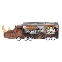vrachtwagen neushoorn jongens 16 cm bruin