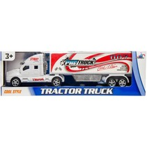 vrachtwagen Pro Street 28 cm wit/rood