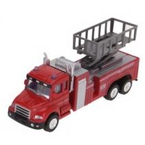 vrachtwagen met aanhanger 16 cm rood