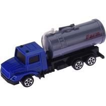 vrachtwagen met trailer 12 cm blauw