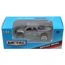 jeep Off Road jongens 13 cm die-cast grijs/groen