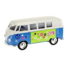 Welly Volkswagen bus blauw 10,5 cm