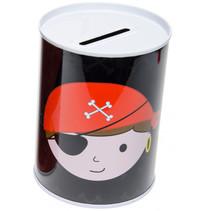 spaarpot piraat 11,5 x 7,5 cm polypropyleen zwart
