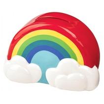 Regenboog spaarpot keramiek 10 cm