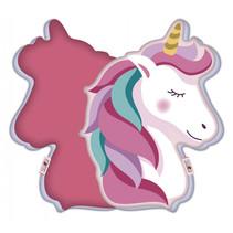 kussen Unicorn meisjes 40 x 29 cm Polyester roze/wit
