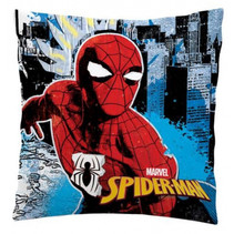 kussen Spiderman polyester 35 x 35 cm blauw/rood