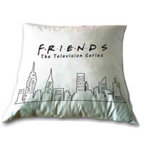 kussen Friends 35 x 35 cm polyester wit