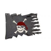 piratenvlag 83 x 64 cm polyester grijs