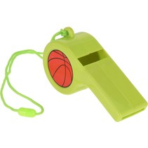 voetbalfluit met koord 12,5 cm groen