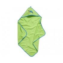 badponcho schildpad groen junior mt L
