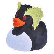 badeend pinguin junior 10 cm wit/zwart