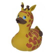 badeend giraffe junior 10 cm geel/bruin