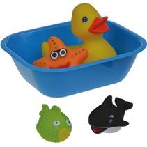 baddieren met badkuipje multicolor 5-delig