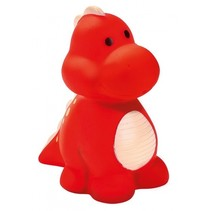 waterspuitende dino rood
