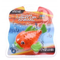 Aqua Fun baddier met licht 13 cm oranje
