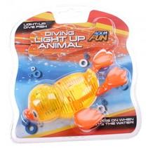 Aqua Fun baddier met licht 15 cm geel
