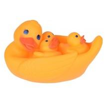 badspeelgoed eend geel 4-delig