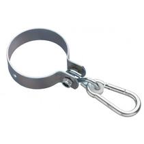 schommelhaak rond Ø100 mm verzinkt zilver