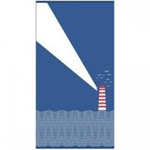 strandlaken Vuurtoren 170 x 90 cm blauw