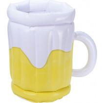 bekerhouder bierglas geel/wit 30 cm