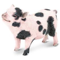 speeldier hangbuikbiggetje 13,25 cm roze/zwart
