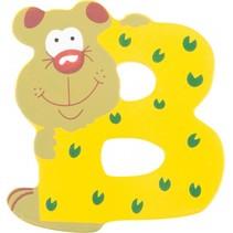 alfabet Dieren letter B hout 8 cm