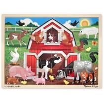 houten legpuzzel barnyard buddies 24 stukjes