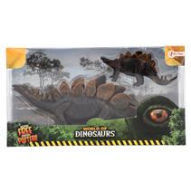 speelset Stegosaurus junior 29 cm donkerbruin 2-delig