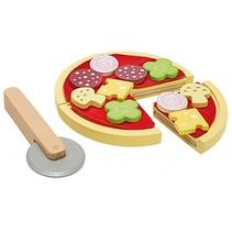 houten speelgoedpizza 21-delig