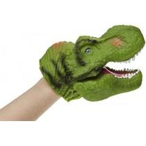 dinosaurus handpop 30 cm groen