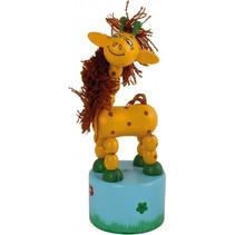 drukdier Giraffe hout junior 11 x 4,5 cm