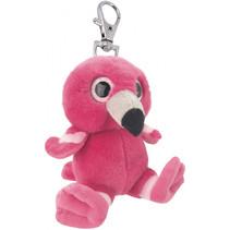 sleutelhanger flamingo meisjes 10 cm pluche roze